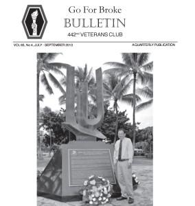 Go For Broke Bulletin July-Sept 2013 1