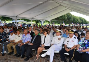 The attendees at the JMS, including Gov. and Mrs. Ige and Admiral Harry Harris.