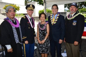 Distinguished guests and Barbara Tanabe, mistress of ceremony for this year's JMS