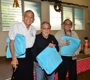 Photo of 442 veterans R. Kishinami, K. Ego and R. Nomura