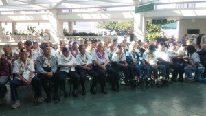 Nisei Veterans gathered for official photo at AJA tribute luncheon