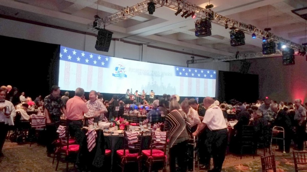 Pearl Harbor 75th Fighting Two Wars luncheon-Dec5-inside photo