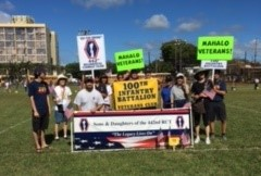 Our combined marching group at Wahiawa District Park after the parade