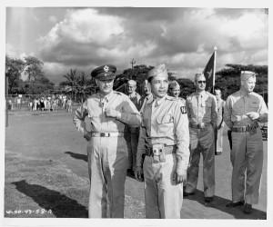 photo of Lt. General Delos C. Emmons and Col. Richard Tongg, Jan. 1943
