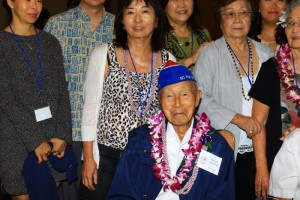 232nd veteran Hiroshi Arisumi and some of his family