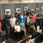 Volunteers including S&D members and community members who set up the Unlikely Liberators exhibit on Schofield Barracks, May 2017