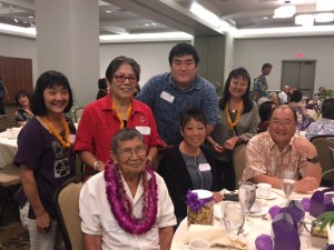 S&D member Gail with 100th Infantry Bn veteran Masaharu Saito and family