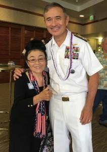 Admiral Harris and S&D president Grace Tsubata Fujii