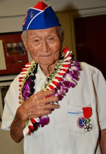 image of Charles Toyoji Ijima with French Legion of Honor medal, July 28, 2018