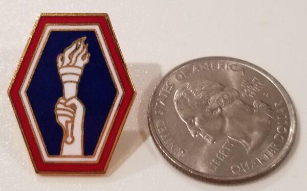 442 Torch Logo Lapel Pin
